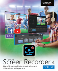 CyberLink Screen Recorder 4 Deluxe für Windows (Download), Best.Nr. CY-300, € 34,95