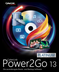 CyberLink Power2Go 13 Platinum für Windows, Best.Nr. CY-306, € 59,95