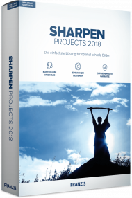 FRANZIS SHARPEN PROJECTS 2018 (Download), Best.Nr. FRO-1138, € 39,95