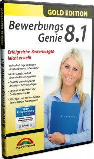 Bewerbungs Genie 8.1 - Gold Edition, Best.Nr. MT-80686, € 12,95